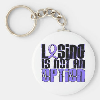 Losing Is Not An Option Esophageal Cancer Keychain