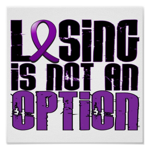 Losing Is Not An Option Fibromyalgia Poster