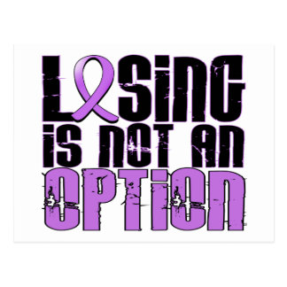 Losing Is Not An Option General Cancer Postcard