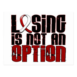 Losing Is Not An Option Head Neck Cancer Postcard