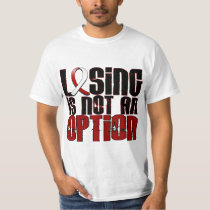Losing Is Not An Option Head Neck Cancer T-Shirt