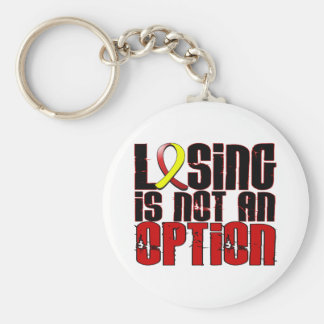 Losing Is Not An Option Hepatitis C Basic Round Button Keychain