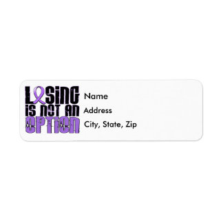 Losing Is Not An Option Hodgkin's Lymphoma Label