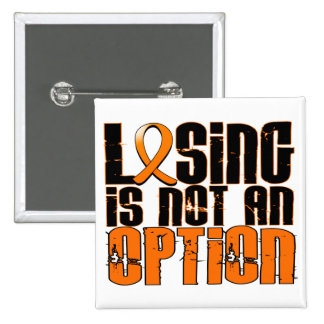 Losing Is Not An Option Leukemia 2 Inch Square Button