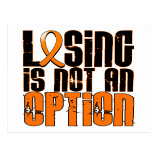Losing Is Not An Option Leukemia Postcard