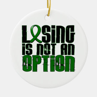 Losing Is Not An Option Liver Cancer Ornament