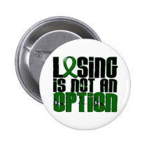 Losing Is Not An Option Liver Disease Pinback Button