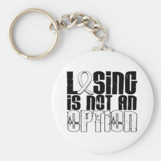 Losing Is Not An Option Lung Cancer Keychain
