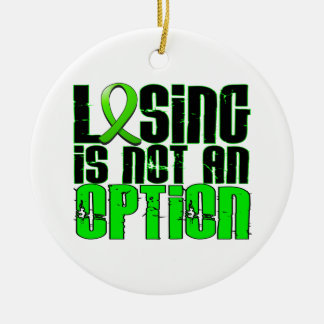 Losing Is Not An Option Lyme Disease Christmas Ornaments