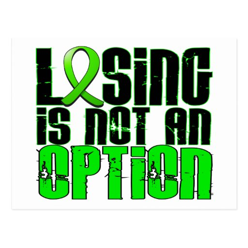 Losing Is Not An Option Lyme Disease Postcards