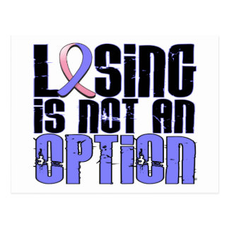 Losing Is Not An Option Male Breast Cancer Postcard