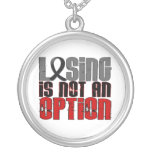 Losing Is Not An Option Melanoma Personalized Necklace