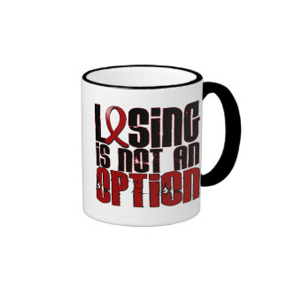 Losing Is Not An Option Multiple Myeloma Ringer Coffee Mug