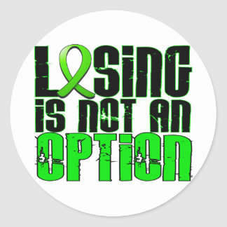 Losing Is Not An Option Muscular Dystrophy Classic Round Sticker