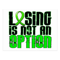 Losing Is Not An Option Non-Hodgkin's Lymphoma Postcard