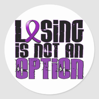 Losing Is Not An Option Pancreatic Cancer Classic Round Sticker