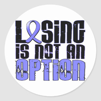 Losing Is Not An Option Prostate Cancer Classic Round Sticker