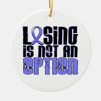 Losing Is Not An Option Prostate Cancer Double-Sided Ceramic Round Christmas Ornament