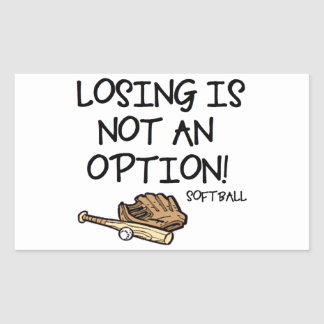 Losing is Not an Option! Rectangular Sticker