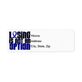 Losing Is Not An Option Reye's Syndrome Label
