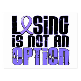 Losing Is Not An Option Stomach Cancer Postcard