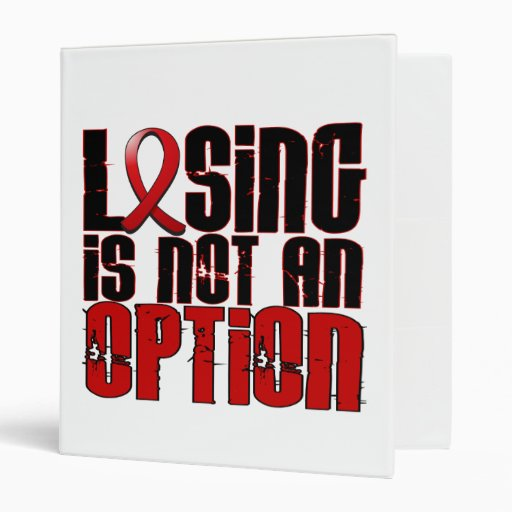Losing Is Not An Option Stroke 3 Ring Binder