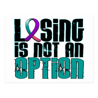 Losing Is Not An Option Thyroid Cancer Postcard