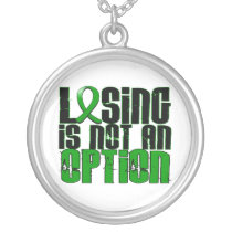 Losing Is Not An Option Traumatic Brain Injury TBI Silver Plated Necklace