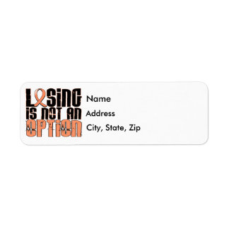 Losing Is Not An Option Uterine Cancer Label