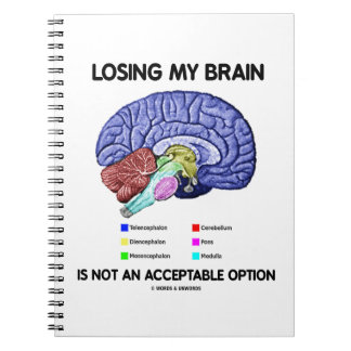 Losing My Brain Is Not An Acceptable Option Note Books