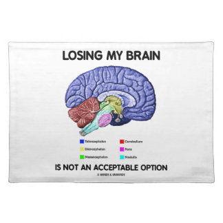 Losing My Brain Is Not An Acceptable Option Placemat