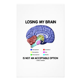Losing My Brain Is Not An Acceptable Option Stationery