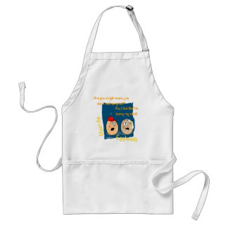 Losing my Mind, funny egghead cartoon gifts Aprons