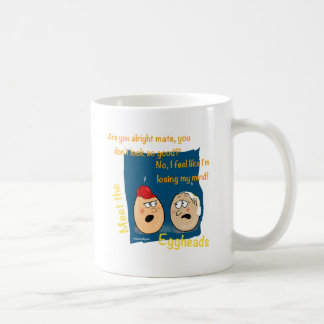 Losing my Mind, funny egghead cartoon gifts Classic White Coffee Mug