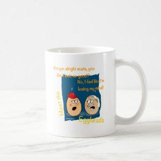 Losing my Mind, funny egghead cartoon gifts Mugs