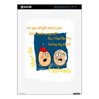 Losing my Mind, funny egghead cartoon gifts Skin For iPad 3