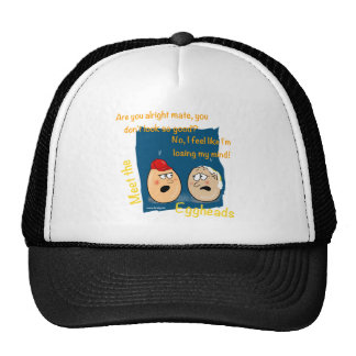 Losing my Mind, funny egghead cartoon gifts Trucker Hat