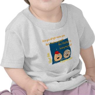 Losing my Mind, funny egghead cartoon gifts Tshirts