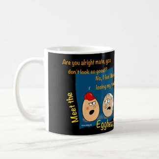 Losing my mind, funny eggheads cartoon mug