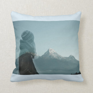 Losing myself in you double exposure photography throw pillow