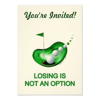 Losing Not An Option Golf Card