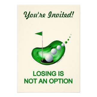 Losing Not An Option Golf Announcements