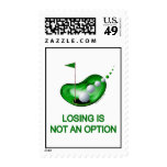 Losing Not An Option Golf Postage