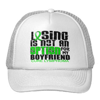 Losing Not Option Lymphoma Boyfriend Trucker Hat