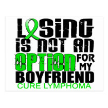 Losing Not Option Lymphoma Boyfriend Postcard