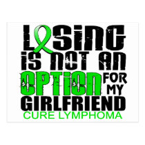 Losing Not Option Lymphoma Girlfriend Postcard