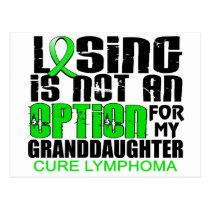 Losing Not Option Lymphoma Granddaughter Postcard