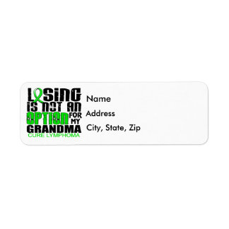 Losing Not Option Lymphoma Grandma Label