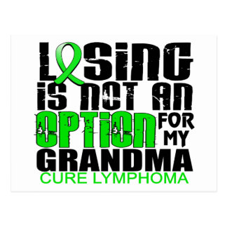Losing Not Option Lymphoma Grandma Postcard