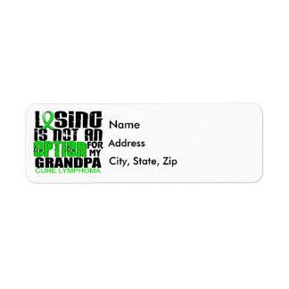 Losing Not Option Lymphoma Grandpa Label